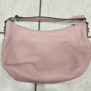 Michael Kors pink pebble leather handbag